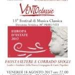 Fausta Vetere e Corrado Sfogli aprono il 13esimo festival 'Ventoclassic'