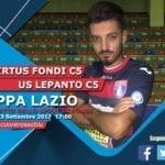 La Virtus Fondi affronta l'Us Lepanto nella prima di Coppa Lazio