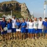 La nazionale italiana di beach tennis a Terracina