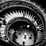 Musei Vaticani, scala elicoidale di Giuseppe Momo
