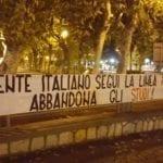 """Gaeta, Blocco Studentesco: striscione per celebrare i """"risultati"""" del Ministro Fedeli"""