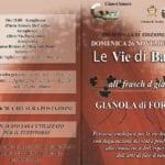 """Domenica 26 novembre tornano  """"Le Vie di Bacco"""" a Gianola"""