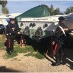 Titolare dell'officina sorprende i ladri che tentano la fuga. Due giovani arrestati dai Carabinieri