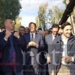 Matteo Renzi a Minturno, tour sul Ponte Borbonico (#video)