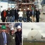 In visita alla Centrale del Garigliano per verificare i lavori di allestimento del nuovo camino