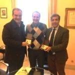 Il Sindaco Mitrano riceve l'Ambasciatore italiano in Venezuela Silvio Mignano