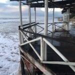 Maltempo: chioschi spazzati via dalle onde e danni ingenti alla duna