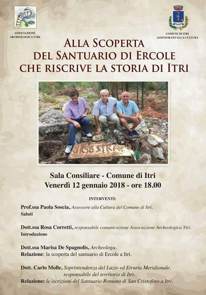 Incontro Archeologico A Itri Venerdi 12 Gennaio H24 Notizie