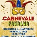 Carnevale a Fondi, i dettagli della due giorni di festa