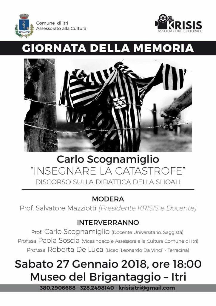 Giornata Della Memoria Itri Krisis Gennaio 2018 H24 Notizie