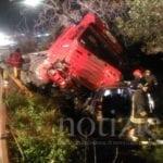 Scontro tra un tir e due auto sulla Flacca a Gaeta: tre i feriti