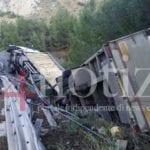 Tir si ribalta, Flacca chiusa ai mezzi pesanti (#VIDEO)