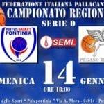 Basket: Virtus Pontinia, operazione riscatto contro il Pegaso Roma