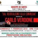 """Carlo Verdone a Fondi: """"dal neorealismo alla commedia"""""""