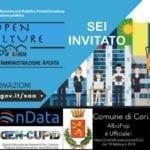'Open Culture' a Cori: il 10 febbraio l'incontro di presentazione