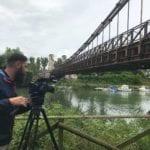 Le telecamere di TV2000 a Minturno per la trasmissione 'Borghi d'Italia'