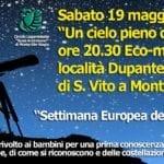 'Settimana europea dei Parchi': serata astronomica questo sabato a Monte San Biagio