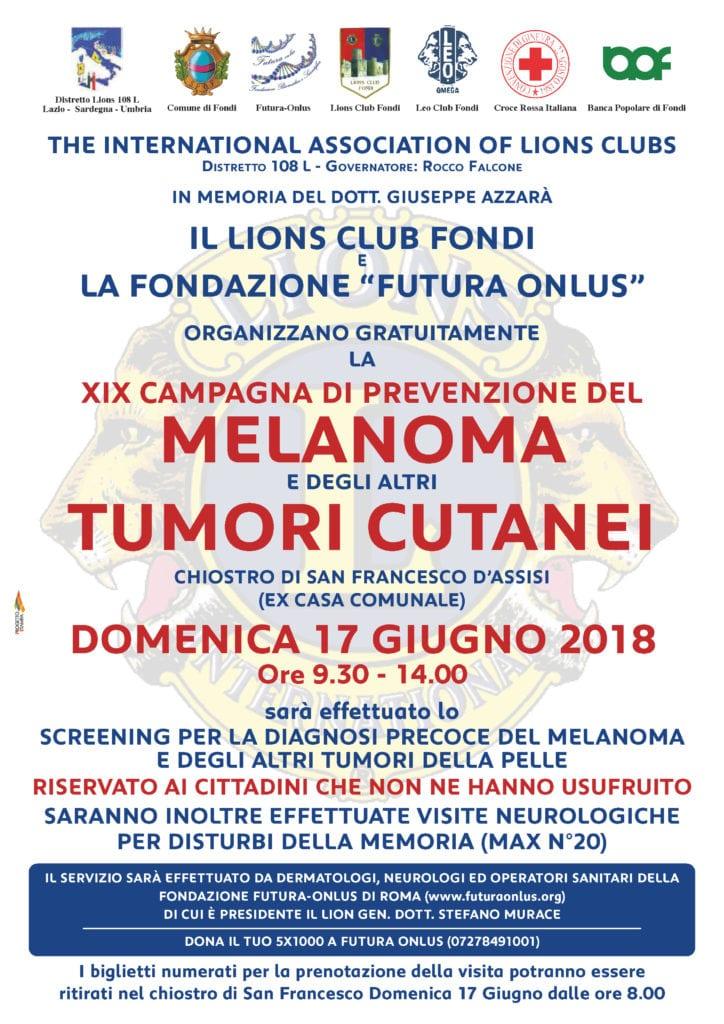 70x100 screening melanoma lions 2018 - h24 notizie - portale