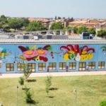 Fondi, un murale gigante: nuovo regalo di Memorie Urbane. Continua la riqualificazione a colpi di street art