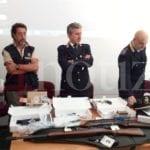 La Polizia di Latina sequestra un arsenale in una villetta-VIDEO