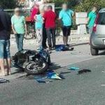 Formia, incidente a Gianola: impatto auto contro moto