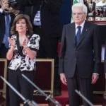 L'Ass.ne Genieri e Trasmettitori d'Italia di Cisterna al picchetto d'onore per la Festa della Repubblica
