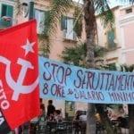 Sfruttamento del lavoro stagionale, a Gaeta la protesta del Partito Comunista