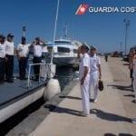 L'Ammiraglio Pettorino visita gli uffici del Compartimento marittimo di Gaeta