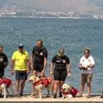 Scuola Italiana Cani Salvataggio, dimostrazione presso Punta Stendardo a Gaeta
