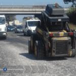 Cantiere mobile sulla SR 148 Pontina per lavori di messa in sicurezza