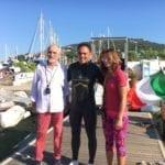 Ecco le immagini della traversata a nuoto Formia-Gaeta di Marciano – Video