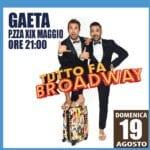 """Gaeta, Arena Virgilio: Pio e Amedeo in """"Tutto fa Broadway"""""""