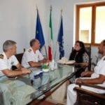 Formia, il Direttore Marittimo del Lazio Capitano di Vascello Vincenzo LEONE incontra il sindaco Villa