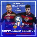Fidaleo Fondi C5, martedì sera la Coppa Lazio