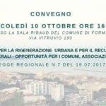 Recupero edilizio e rigenerazione urbana, il 10 ottobre il convegno a Formia