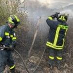 Paura in viale Piemonte per un incendio: intervengono i Falchi
