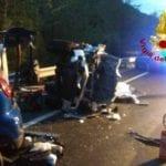 Frontale sulla Salaria, quattro morti: c'è anche un giovane di Gaeta