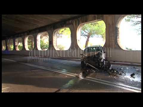 Schianto frontale in galleria tra Gaeta e Sperlonga: quattro feriti  #VIDEO