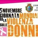 Giornata Mondiale contro la violenza sulle donne, le celebrazioni a Fondi
