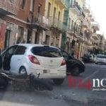 Formia, incidente fra auto e moto in via Vitruvio