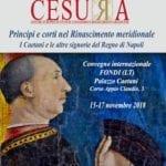 """""""Principi e corti nel Rinascimento meridionale"""", convegno internazionale a Fondi"""