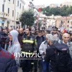 """Il ministro Salvini a Terracina dopo le devastazioni: """"Una comunità forte"""""""