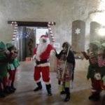 Itri, il castello medievale si trasforma in casa di Babbo Natale