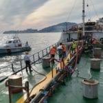Gaeta, esercitazione antincendio nel porto commerciale