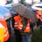 "A Terracina i gilet arancioni protestano contro i problemi ""infrastrutturali"""