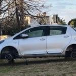 Ladri di pneumatici, tappa a Sperlonga: due auto senza ruote