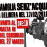 """Mai più famiglie senz'acqua"", manifestazione contro i distacchi a Gaeta"