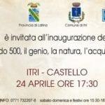 """""""Leonardo 500, il genio, la natura, l'acqua ed il mare"""" in mostra al Castello di Itri"""