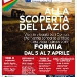 """""""Lazio eterna scoperta"""", gli eventi in programma a Formia"""