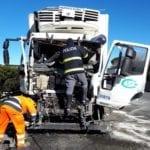 Incidente tra mezzi pesanti sulla Pontina: guidava sotto l'effetto di cocaina